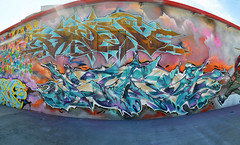 Panorama 12 v2 (collations) Tags: toronto ontario graffiti bacon kwest