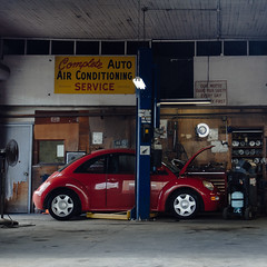 Broken Beetle (natedregerphoto) Tags: urban iso100 birmingham alabama f56 45mm 18105mmf3556 nikond7000 67mm35mmequiv vsco4kodake200
