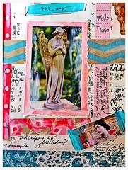 May Calendar Page (born 2 b creative) Tags: color art collage angel pattern calendar mixedmedia journal may craft page papercraft artjournal journalpage 2013