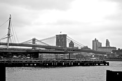 Brooklyn Bridge (dragonfly21466) Tags: nyc nikon southstreetseaport brooklynbridge hudsonriver d3100 nikond3100
