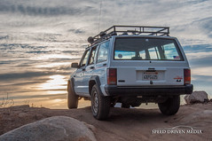Its a Jeep Thing (jonashaffer) Tags: california door roof light sunset ford bar dinner photography climb eyes sand nikon rocks lift angle jeep offroad 4 stock nation donkey canyon drain bumper adobe rack cj angry bronco cherokee flex tj commander wj lightroom xj 18105 rustys d90 muddin