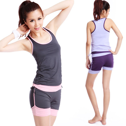 Les absorbants respirant vêtements de yoga fitness