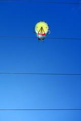 Bird On A Wire (briyen) Tags: ocean park bird up car wire cable hong kong