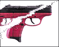 ungun : raspberry ruger (portmantō) Tags: art handgun glitch ungun