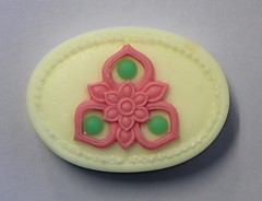 Oval Designer Bar $3 (Clelian Heights) Tags: flowers soaps unscented decorativesoaps cleliansoaps 35cleliansoaps