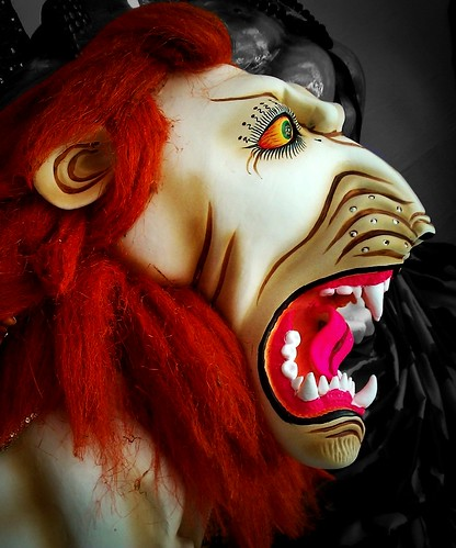Durga Maa is depicted as riding on a lion.The lion is a symbol of uncontrolled animalistic tendencies (such as anger, arrogance, selfishness, greed, jealousy, desire to harm others etc.) and Her sitting on it reminds us to control these qualities, so that