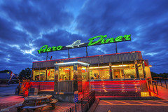 Aero Diner v2013 (docjfw) Tags: nightphotography fall clouds neon ct diner neonsigns d800 nikkor1735