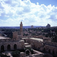 "Jeruselam Tower of David (C'est eddie) Tags: 120 6x6 film rolleiflex fuji palestine jeruselam rvp city"" 28f ""holy"