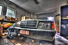 Benz in der Garage (marcelarts) Tags: urban abandoned beautiful lost europa europe university belgium decay villa uni chateau exploration verlassen discover urbex