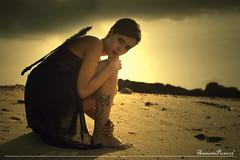 Fallen angel (amaurea2310) Tags: portrait espaa woman praia beach atardecer mujer spain model retrato femme playa modelo galicia galiza fallenangel portraiture lusco pontevedra vigo muller solpor samil luscofusco ngelcado zoesousarodrguez anxocado angedessu