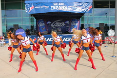 IMG_8834 (grooverman) Tags: plaza game sexy canon eos rebel football nice texas cheerleaders legs boots stadium nfl houston booty t3 dslr budweiser texans pregame reliant 2013