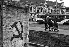 Kosice war memorial (marukomu) Tags: hammer memorial war wwii tram communist cycle slovakia bratislava czechoslovakia pram kosice mitteleuropa