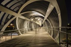 Espirales (Julieta Portel) Tags: madrid night puente clear pasarela nocturna perrault madridro blinkagain