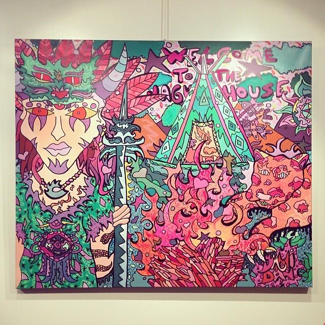 """""""La Casa Jaguar"""" Dani Dan • """"Bestiario"""" #muestra colectiva #arteenlima #arte #artinlima #art #artist #artista"""