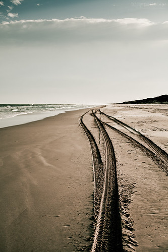 Stationary Tracks, Moving Sand