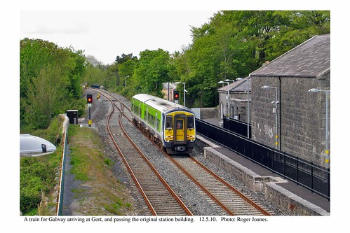 Gort. Train for Galway arriving. 12.5.10