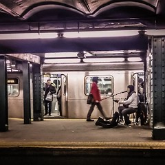 nyc newyorkcity train subway square pod guitar manhattan... (Photo: A Square Shot on Flickr)