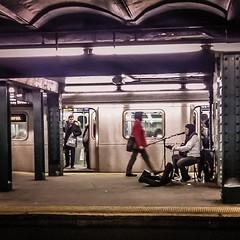 nyc newyorkcity train subway square pod guitar manhattan... (Photo: A Square Shot on Flickr)
