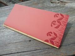 Chopstick notebook (MyHandboundBooks) Tags: pink bookbinding handbound myhandboundbooks chopsticknotebook