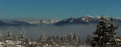 Coast mountain panorama 3 (Zorro1968) Tags: trees panorama snow mountains vancouver horizon grousemountain thelions