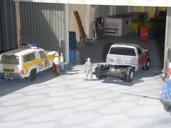 new / used truck (THE RANGE PRODUCTIONS) Tags: ranch ford truck toy dioramas diecast diecastdioramas hoscalefigures
