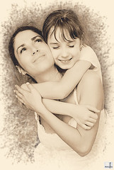 Love you, Mom! (MissSmile) Tags: portrait bw art love smile happy artistic joy memories smiles happiness processed tender misssmile