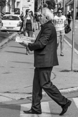 There will be cake (chat des Balkans) Tags: street old people blackandwhite bw cake dessert noiretblanc serbia streetlife oldman elder streetphoto oldpeople rue vieux careful gateau vojvodina srbija voivodina photoderue serbie personneagee streetpicture vieilhomme vrsac holdingacake serbiastreet ruedeserbie voivodine lifeinserbia vieenserbie serbiastreetphoto lifeinvrsac vieavrsac vrsacstreetphoto vrsacstreet ruedevrsac carryingacake tenirungateau transporterungateau