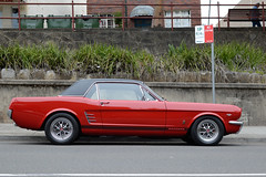 Red Ford Mustang (alwaysinsydney) Tags: auto red classic ford 35mm nikon muscle automotive retro mustang nikkor motorvehicle nikkorafs35mm18g