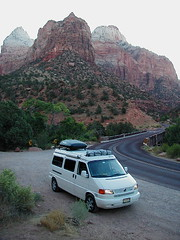 Shady Boy Awning on a VW EuroVan 081104 Zion Valley UT