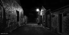 Dark Alley (Ron Ciervo) Tags: blackandwhite bw monochrome night alley nikon noir outdoor nocturne blakwhite explored d5100