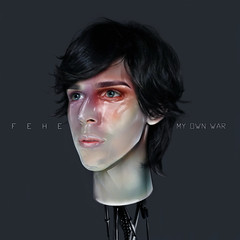 FEHE - MY OWN WAR (FEHE.) Tags: red music glass rock robot model war paint album makeup pop plastic singer indie own fehe