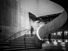 Going Down (Sean Batten) Tags: london england unitedkingdom gb blackandwhite bw ricohgr tatemodern tate switchhouse spiral staircase city urban architecture