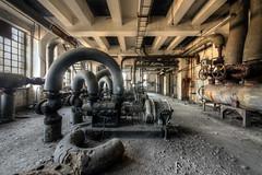 Dead fountain (Michal Seidl) Tags: abandoned heating plant opuštěná kotelna teplárna továrna factory fabrika hdr urbex czech