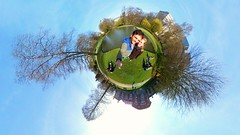 It's a small world (Parc Leopold, Brussels) (Ben Heine) Tags: benheinephotography photography composition light smartphone nature landscape beauty beautiful photo photographie art ifttt instagram benheine horizon gear360 aroundtheworld samsung parcleopold bruxelles brussels planet world monde sky round samsungbelgium technology