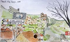 Le Tour de France virtuel - 46 - Lot (chando*) Tags: croquis sketch aquarelle watercolor france