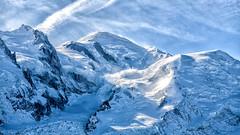 Mont Blanc (-Visavis-) Tags: montblanc montebianco france chamonix alps savoie europe summit mountains glacier sky blue bluesky canoneos5d canonef70200mmf4lusm