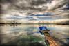 Peace and war (Nejdet Duzen) Tags: trip cloud reflection turkey boat day cloudy jetty türkiye iskele sandal warship izmir bulut yansıma turkei seyahat inciraltı savaşgemisi buluttravel