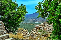 """    ,      ..."" (Love me tender .**..*) Tags: trees summer mountains castle abandoned nature colors june stone architecture stairs photography view greece traveling astros hdr dimitra peloponnisos 2013 kinouria nikond3100 kirgiannaki"