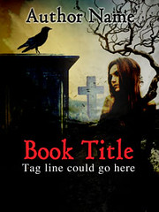 PMC064 Pre Made Book Cover (Shardell) Tags: black tree art grave yellow stone night yard book design photo tomb dar gothic manipulation made cover pre writers crow authors thriller
