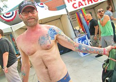 PrideSat 165 (danimaniacs) Tags: shirtless man hot sexy guy pecs tattoo beard la losangeles chest hunk gaypride westhollywood ta tats pridesat