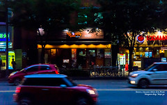 road at night (gwnam.2008) Tags: road street city urban car shop night cityscape samsung korea seoul streetscape 서울 한국 mapo nx mapogu 마포구 망원동 nx11