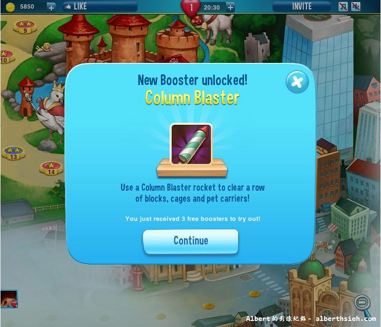 Pet Rescue Saga_第17關後出現的工具Column Blaster