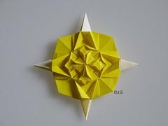 Estrella / Star by Peter Budai (esli24) Tags: origamistar peterbudai crossedboxpleat papierfalten thokiyenn origamistern esli24 ilsez origamiestrella rosewindowpattern