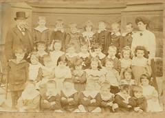 School in Edwardian England 1906 (Anne D Walter) Tags: london sepia vintage children class teacher groupphoto 1906 edwardian 1900s