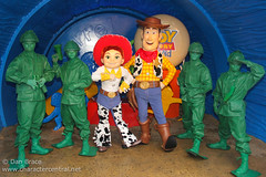 Meeting Woody, Jessie and the Green Army Men