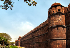 Red Fort Walls (William J H Leonard) Tags: city urban building architecture buildings asian asia fort delhi palace ramparts walls hdr highdynamicrange newdelhi historicalsite redfort southasia southasian mughal lalqila mughalarchitecture shahjahanabad heritagesite lalqilah