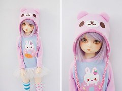BJD Bear Hat - anyone interested? (Cyristine) Tags: bear pink hat ball doll slim kawaii bjd msd jointed