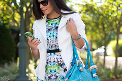 mirror print-5.jpg (LyddieGal) Tags: blue summer white floral fashion outfit dress turquoise style wardrobe tjmaxx rayban londontimes officestyle mirrorprint charmandluck