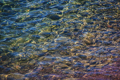 """the Cote d'Azur is not just """"azur"""" (lunaryuna) Tags: sea abstract beach water reflections cotedazur colours pebbles ripples lunaryuna shallows naturalabstract"""