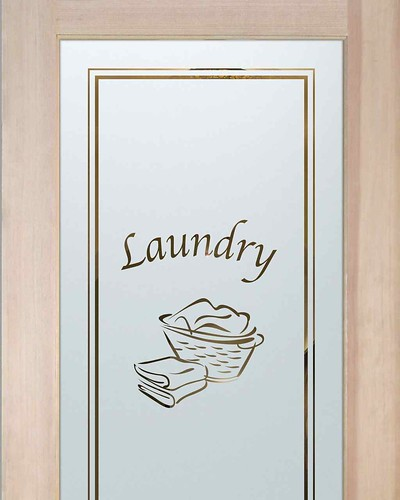 Laundry Room Doors Frosted Glass Laundry Basket A Photo On